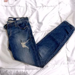 EUNINA | DESTROYED SKINNY MID RISE